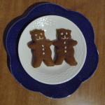 A few of my gluten free vegan gingerbread bears!