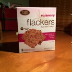 A box of rosemary flackers